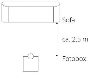 Fotobox Aufbau